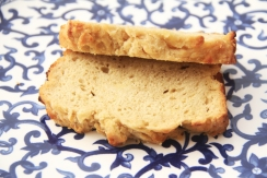 beer bread slices