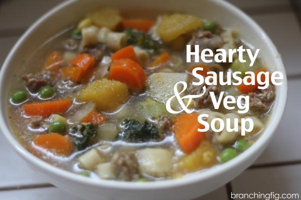 Hearty sausage and veg soup