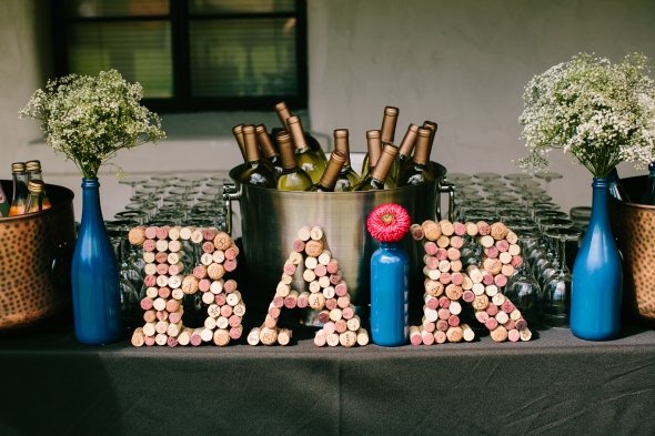 DIY reception decor & bar sign