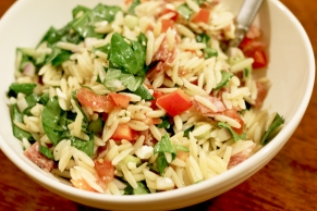 orzo salad meal